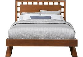 queen platform bed frame with headboard. Wonderful With Belcourt Cherry 3 Pc Queen Platform Bed With Lattice Headboard  Beds  Dark Wood And Frame With E