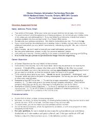 Enchanting Sample Resume Canada Immigration In Sample Resume