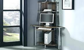 tall corner computer desk hideaway opus oak t