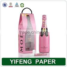 wine packaging template custom cardboard unique wine bottle gift boxes paper box for wine