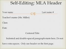 Self Editing Mla Header Ppt Download