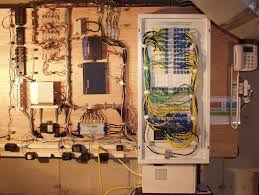 whole house structured wiring networking set ups cabinets panels picture
