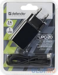 Сетевое <b>зарядное устройство Defender UPC-20</b> 1 порт USB, 5V ...