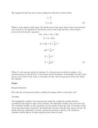 pressure equation. 2. the equation pressure ,
