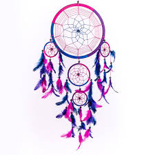 Dream CatchersCom Dream Catcher Handmade Traditional Royal Blue Pink Purple 100 25