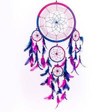 Dream Catcher Purpose Dream Catcher Handmade Traditional Royal Blue Pink Purple 100 69