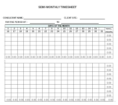 Job Timesheet Excel Template Monthly Template Excel Semi Free