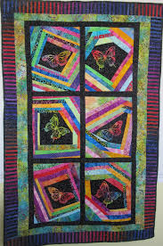 HANDMADE PATHWORK QUILT FOR KIDS BATIK BUTTERFLIES & Handmade Patchwork Quilt For Kids Batik Butterflies. Adamdwight.com