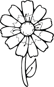 Printable Flowers To Color Flowers Coloring Pages Kids Printable