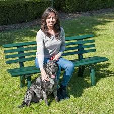 resin garden bench