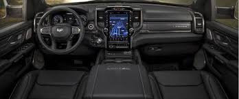 2019 ram 1500 front seats wheel and dashboard view
