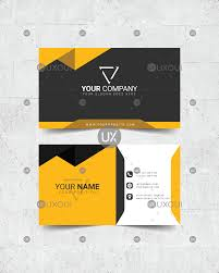 Card Design Template Black Yellow White Creative Dark Business Card Design Template Vector Uxoui
