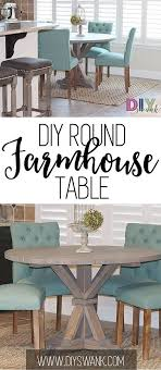 build a round farmhouse table for 85 or less plans provided by the design confidential
