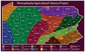 pennsylvania s historic agricultural regions map