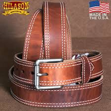 hilason heavy duty made in the usa holster leather work belt brown zoom