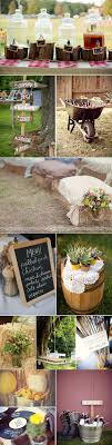 Country Wedding Ideas for Cakes, Decorations, Menu Signs, Seating with Hay  Bales and