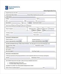 medical patient registration form 7 patient registration form samples free sample example