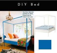 Ikea Hack - painted canopy bed in Heidi Merrick's room via Elle ...