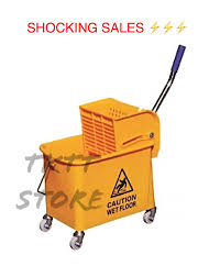 tktt 20 liter mop bucket with wringer press down mop cart house keeping cart