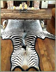 faux zebra rug hide classic real for