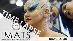 rhinestones drag look makeup time lapse imats 2018 ei makeup