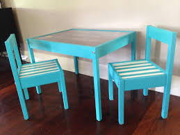 ikea latt kids table hack all parts spray painted before assembly