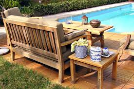 Wonderful Wood Patio Furniture Cool Brown Rectangle Rustic Wooden Inside Ideas