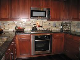 Ceramic Kitchen Backsplash Beige Kitchen Backsplash Tile Combined With Wooden Cabinets And