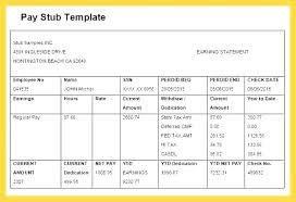 Payroll Pay Stub Template Free Get Check Stub Templates Search Results Template Pay Sample