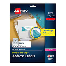 Avery 1 2 X 1 3 4 Template Avery Laser Labels Matte Mailing 3 3 4 X 1 1 4 300 Per Pack 6879