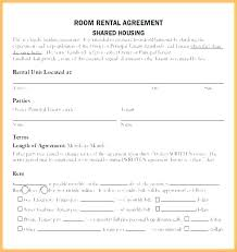 Room Rental Contract Room Rental Contract Apartment Template Lease Agreement