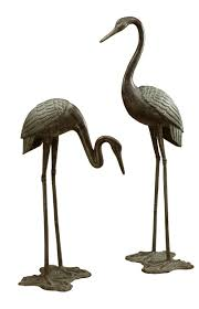 large garden crane pair sculpture by spi home 3190 you save