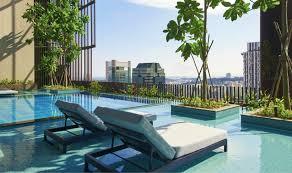 infinity pool singapore hotel. Oasia Hotel Downtown Infinity Pool Singapore