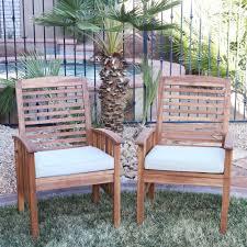 The Gray Barn Bluebird Acacia Wood Patio Chairs Set of 2 Free