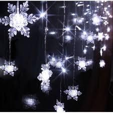 aukur 3 5m snowflake style curtain lights 96led curtain lights 8 modes linkable
