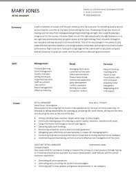 retail store manager resume objective examples assistant operation create  my ...