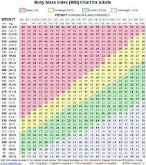 Ideal Bmi Chart Female Pin On Health