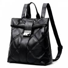 2018 Faux Leather Quilted Backpack BLACK In Backpacks Online Store ... & Faux Leather Quilted Backpack - BLACK Adamdwight.com