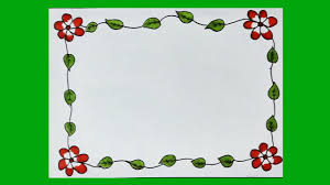 Paper With Flower Border Flower Border Design On Paper Floral Border Design For Projects Borders And Frames For Projects