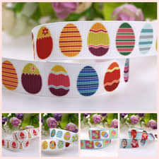 Heat Transfer Designs Us 25 0 7 Designs 100yards Lot Heat Transfer Easter Egg Bunny Grosgrain Ribbon Welcome Custom Printed In Hair Accessories From Mother Kids On