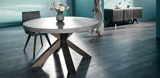 round concrete dining table nick a concrete top dining