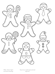 Small Picture Gingerbread Man Template Free Christmas Printables Easy