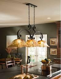 vetraio oil rubbed bronze kitchen island light toffee art glass by uttermost terranean kitchen