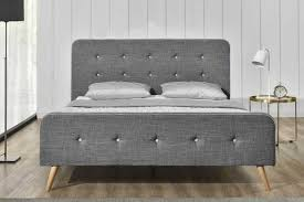 winchester charcoal grey fabric scandi bed frame double  king