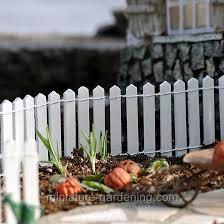 white wood picket fence miniature size