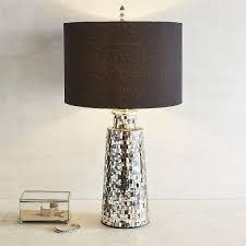 avalon mosaic mirrored glass pieces table lamp