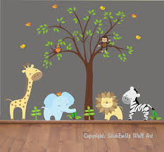 baby wall decals    nursery wall decals  jungle wall decals