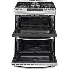 Oven Gas Stove Pgs950sefssge Profile 68 Total Cu Ft Slide In Self Clean Double