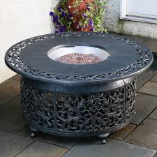 mediun size of red ember san miguel cast aluminum 48 in round gas fire pit