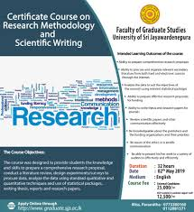 Scientific Writing Certificate Course On Research Methodology And Scientific